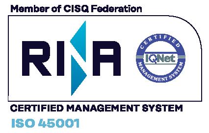 Logo RINA ISO 45001 - Mariani Srl