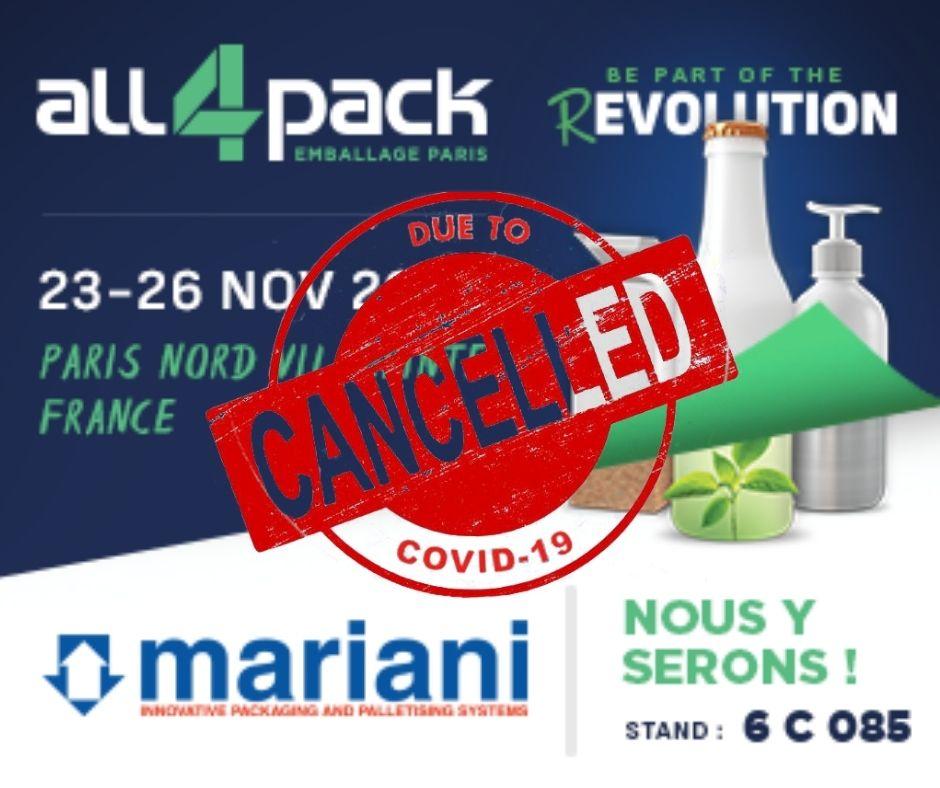ALL4PACK 2020 PARIS - Mariani Srl