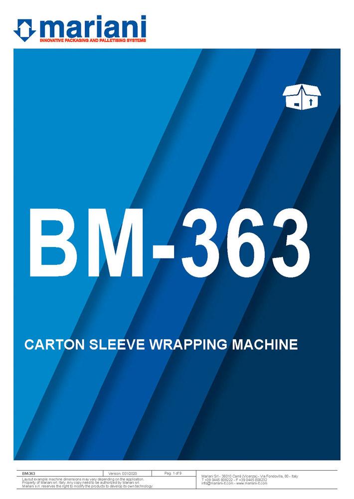 BM-363 cover - Mariani Srl