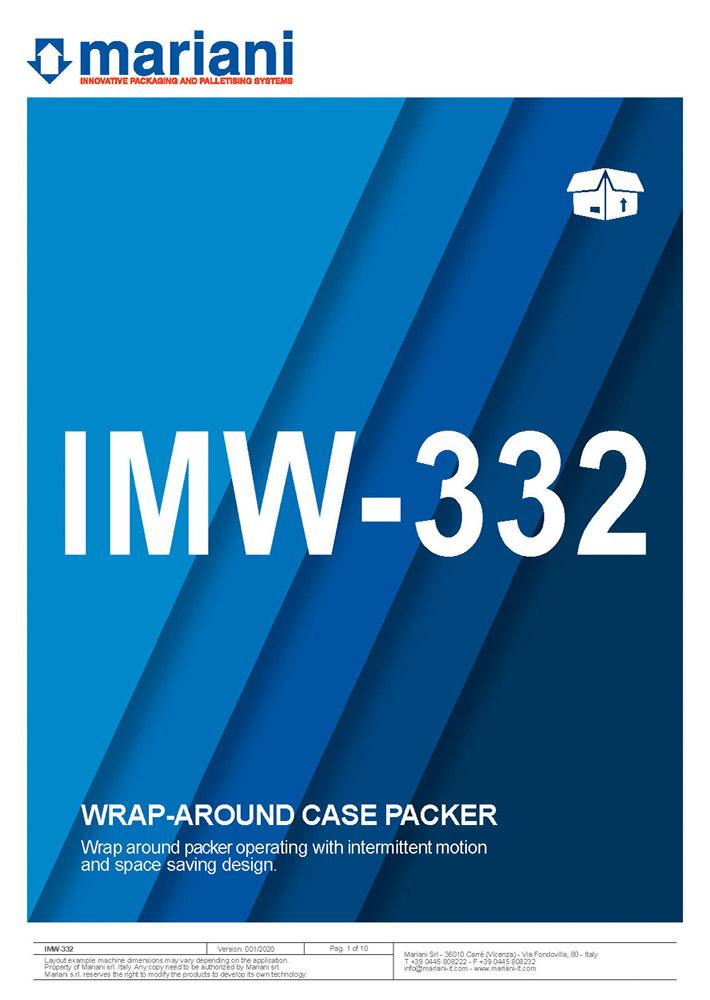 IMW-332 cover - Mariani Srl
