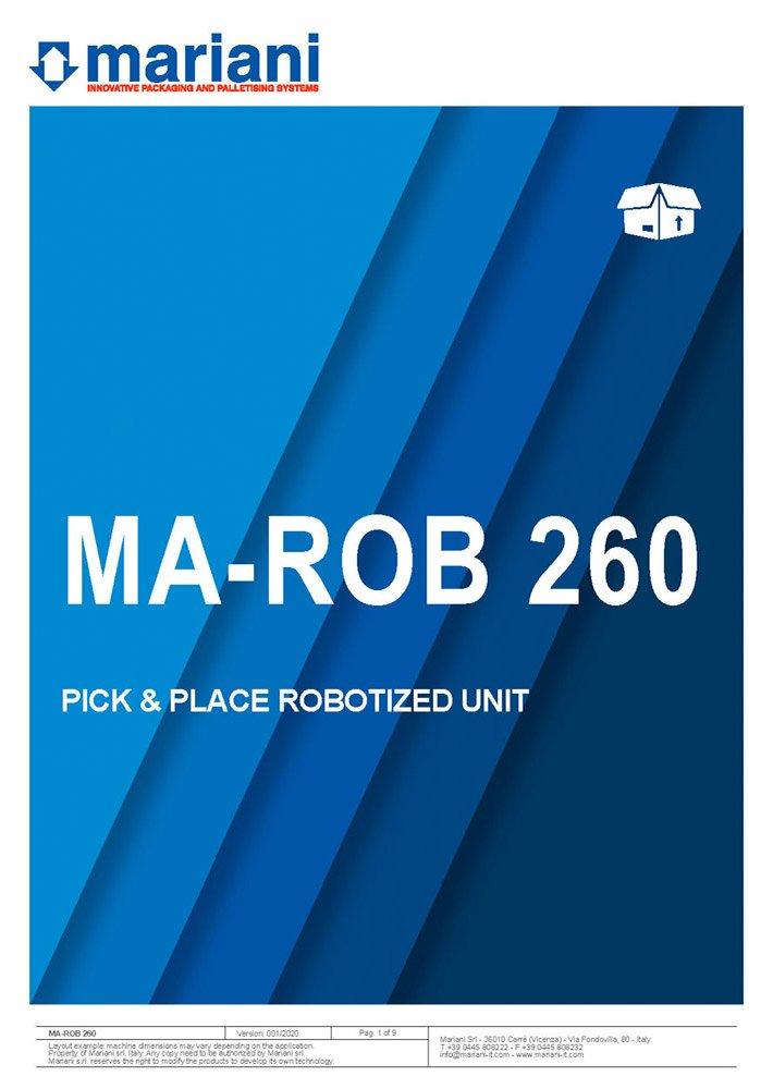 MA-ROB 260 cover - Mariani Srl