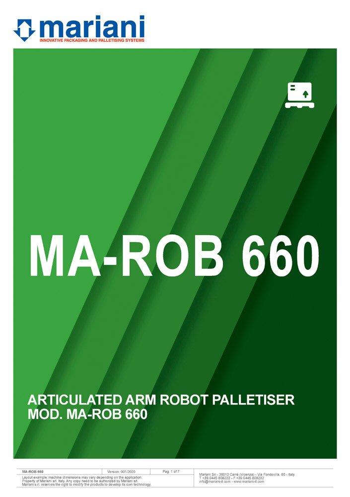 MA-ROB 660 cover - Mariani Srl