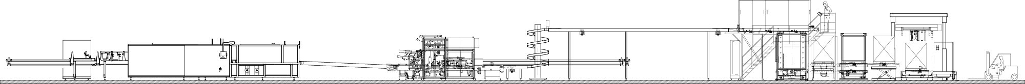 Bottles line layout section - Mariani Srl