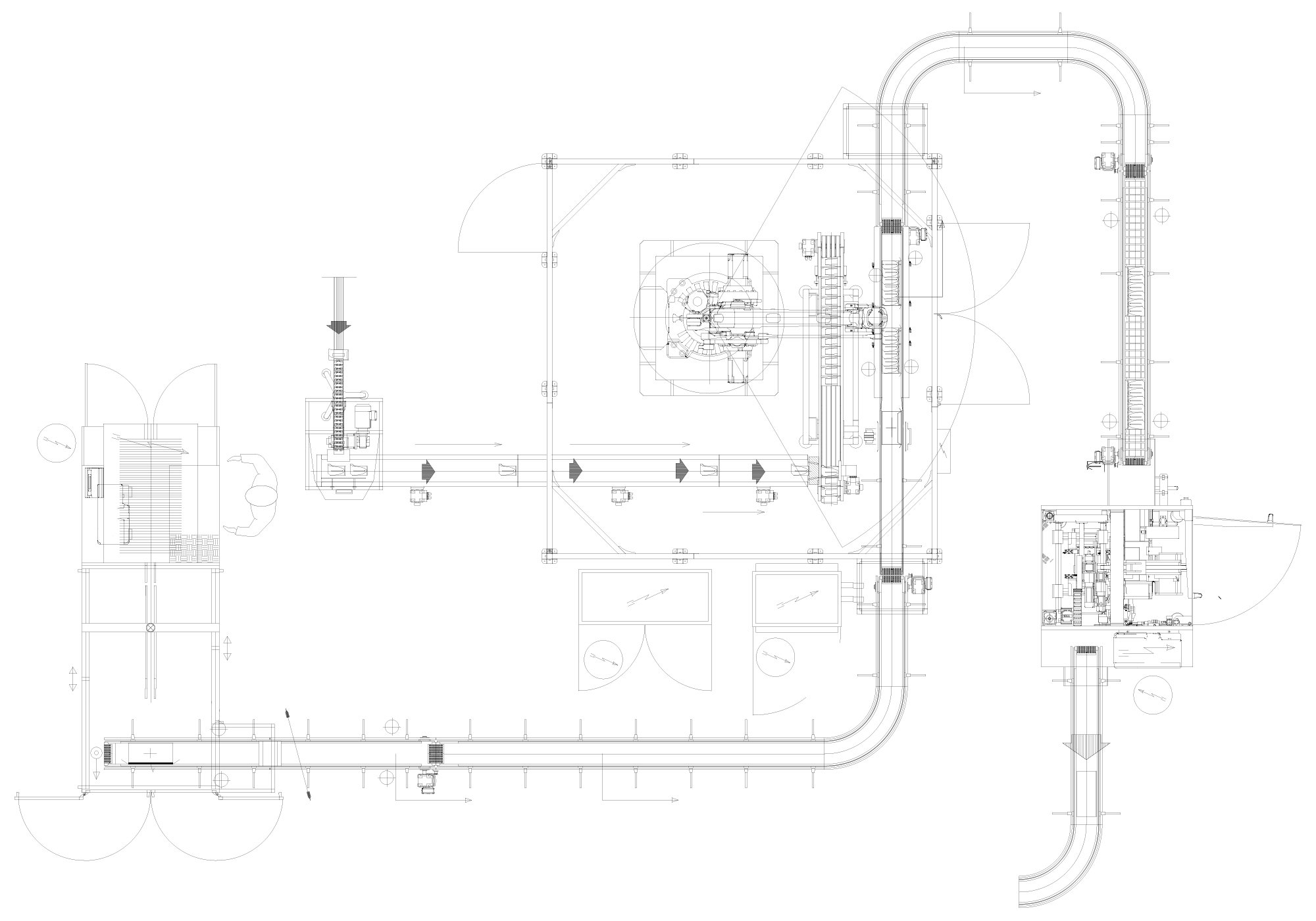 Pouches line layout - Mariani Srl