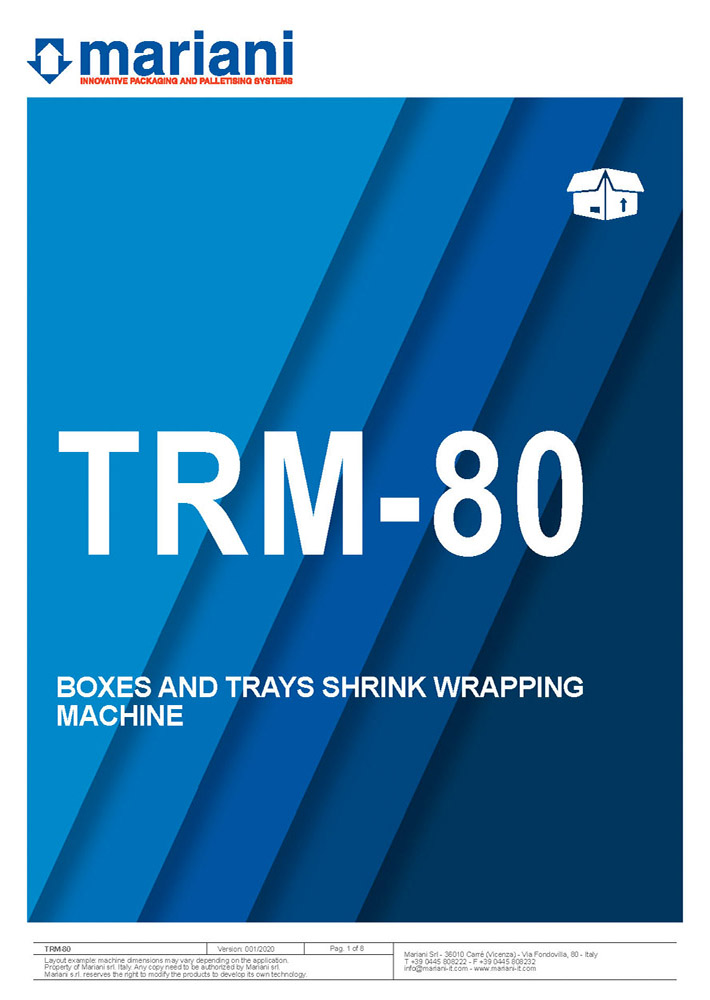 TRM-80 cover - Mariani Srl