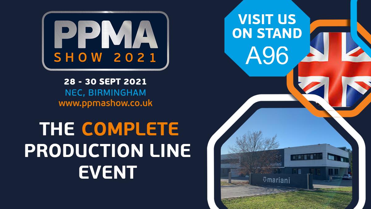 PPMA SHOW 2021 Birmingham (UK) - Mariani Srl